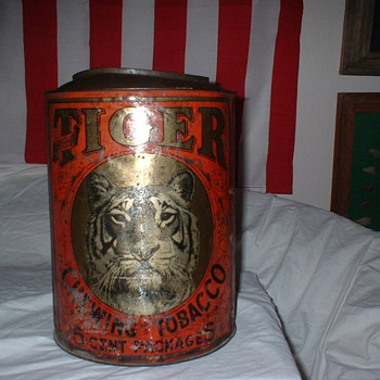 Tiger Tobacco Tin - Advertising
