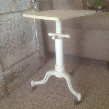 Steampunk Industrial Typewritter stand end table