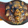 Big Hand Tooled Leather Belt, Thrift Shop Find 2,00 Euro