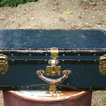 Blue Metal Suitcase