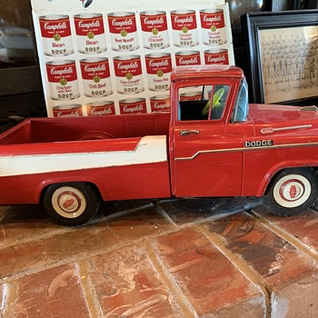 1950's Dodge Truck Tin Pull Toy  - Model Cars