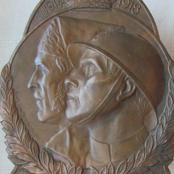 Part II: Reverse of Volunteer Combatant's Plaque, Belgian WWI and War of Independence - Military and Wartime
