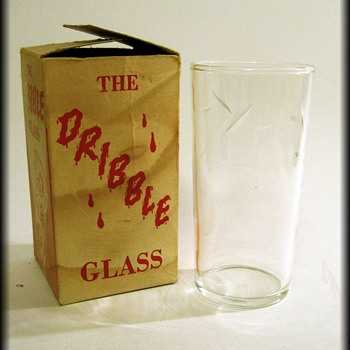 The Original DRIBBLE GLASS ( with box ) Glass is Federal Glass - Glassware