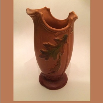 Weller Deco Autumn Oak Leaves Vase - Pottery