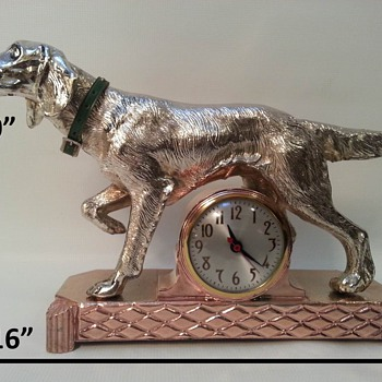 Sessions Golden Retriever Mantle Clock
