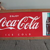 Large Tin COCA COLA Sign 1960's MCA 781