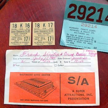 1965 Frank Sinatra & Count Basie with Oscar Peterson Trio Tickets