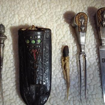 1650--1750s eating utensil set