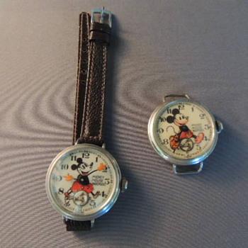 1st &2nd english mickey mouse wrist waches