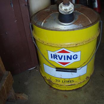 5 gallon  cans  - Petroliana