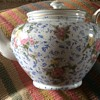 Grimwades teapot with unusual built in strainer, Statue of Liberty