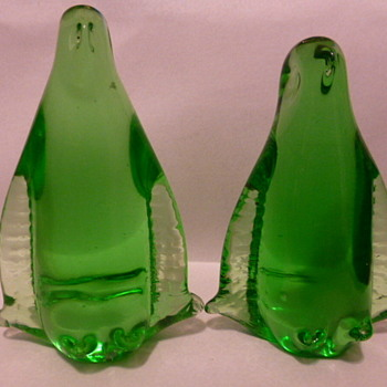 Mystery glass penguins - Art Glass