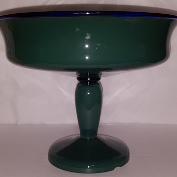 Tango Glass ? Pedestal Bowl - Art Glass
