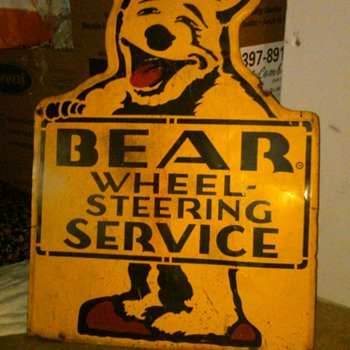 Bear Service sign, metal - Advertising
