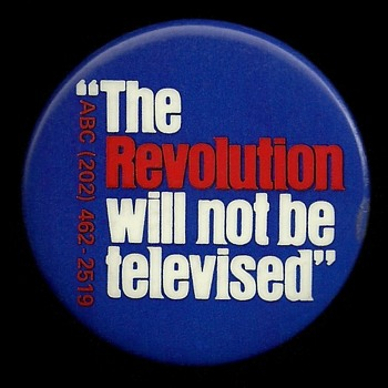 A Vietnam era Pinback Button to go along with the Revolution post from Thomas