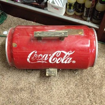 COCA COLA BARBECUE GRILL ????  FOUND IN A OLD BARN - Coca-Cola