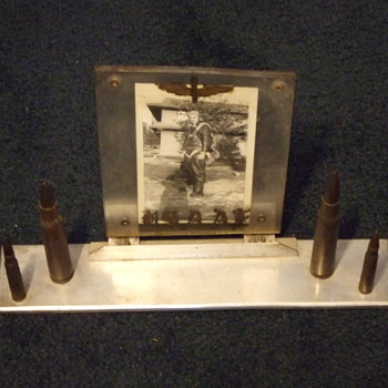 WW2 Trench Art desk picture frame for the Army Air Corps