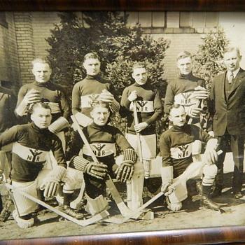 VINTAGE EARLY 1900's HOCKEY PHOTO - Hockey