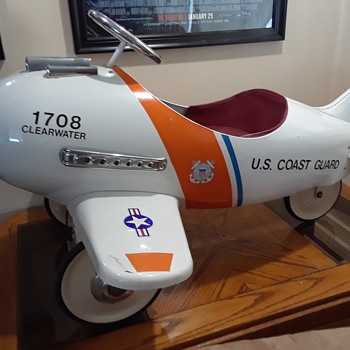2001 Retro Coast Guard Pedal Plane - Toys