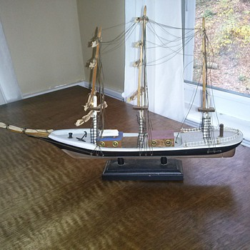 Folk Art Ship Model by Vernon C. Brower - Toys