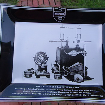 1975 Penn. X-Ray Corp. Advertising ashtray with Complete Set of X-Ray Appr. 1896 - Advertising