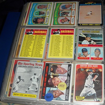 1960-72 Checklists and League Leaders and World Series highlights oh my! - Baseball