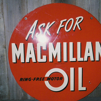 "macmillan 30"" sign - Petroliana"