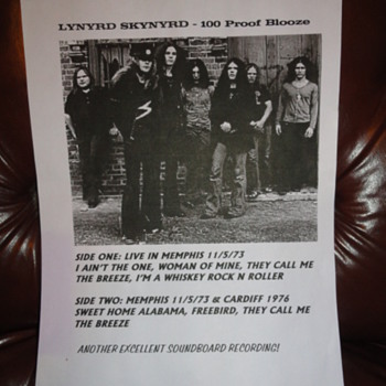 LYNYRD SKYNYRD 100 PROOF ( BLOOZE ) LP