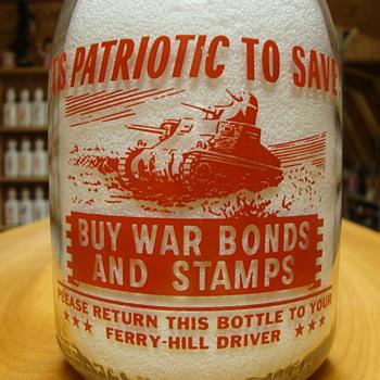 Ferry Hill Dairy (Prairie View, Ill.) War Slogan Tank.........