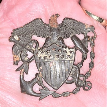Very Old US Military Hat Pin Eagle & Anchor, Please HELP ID what Branch of the Military it is from. Thanks! - Medals Pins and Badges
