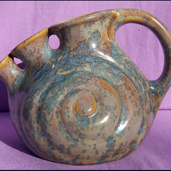 THULIN BELGIUM SNAIL VASE  - Pottery