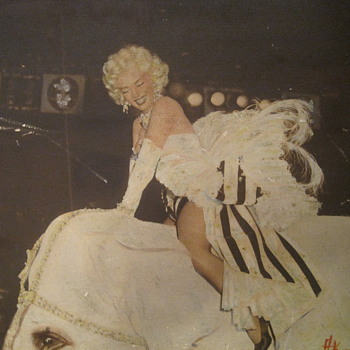Marilyn Monroe on circus elephant print - Posters and Prints
