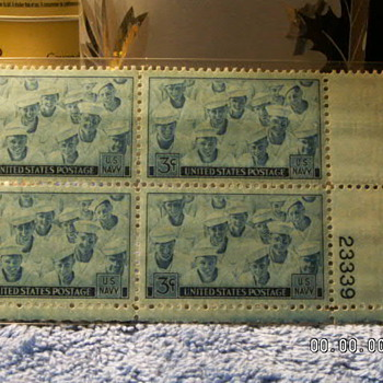 1945 US Navy 3¢ Stamps