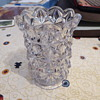 Clear Glass Vase Impressed 'BAG' in a triangle on the inside base.