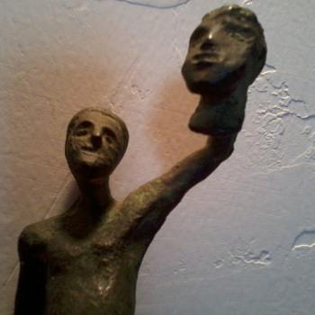 "Ugo Sartoris Sculpture, 1957, Italian(?), ""David and Goliath"" - Fine Art"
