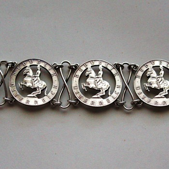 Austrian coin bracelet