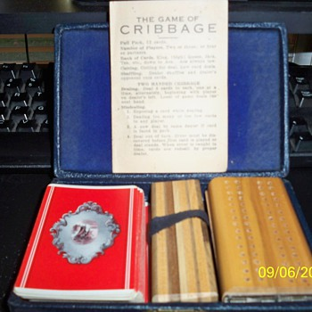 World War II era Cribbage Set