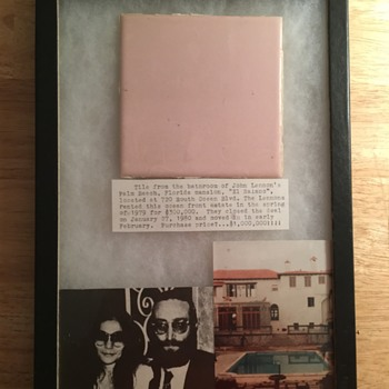 John Lennon's bathroom tile-1980 - Music Memorabilia