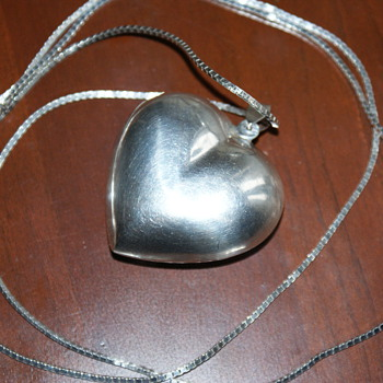 Humongous Sterling Puffy Heart Pendant - Fine Jewelry