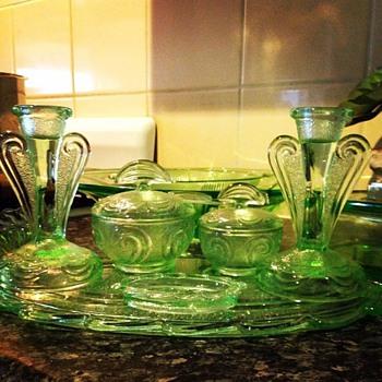 Trinket/Dressing table set - Glassware