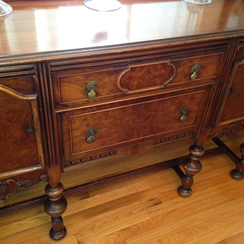 Early Credenza with Brass Pulls - Year?
