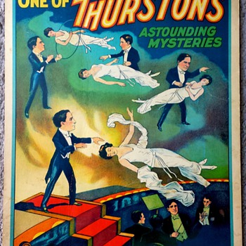 Original 1935 Thurston Stone Lithograph Window Card