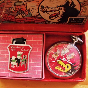 The 1934 Three Little Pigs Series From Ingersoll for Disney - Clocks