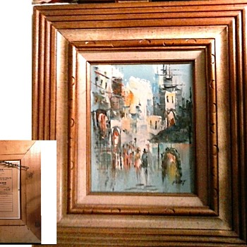 Three Small Mid-Century Artworks / Signed Oils and Watercolor/ Circa 20th Century - Fine Art