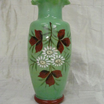 Green vase - Art Glass
