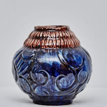 Bulbous Vase from Roskilde Pottery (Denmark), 1917-1921
