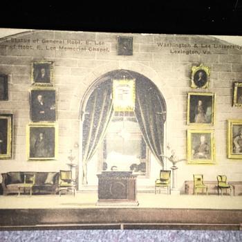 "1920 Robert E. Lee & ""Great Grandpa George Junkin"" Postcard - Postcards"