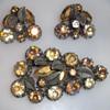 Austrian brooch and earrings set.