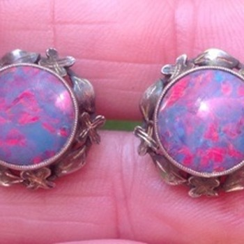 Art and Craft  Silver Opal Earrings - Arts and Crafts