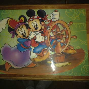 Old Mickey Mini Toy Box top - Advertising
